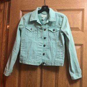 Forever 21 Mint Green Denim Jacket